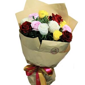Dozen Rainbow Roses 12 stems