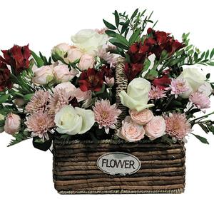 Garden Basket of Flowers 1basket