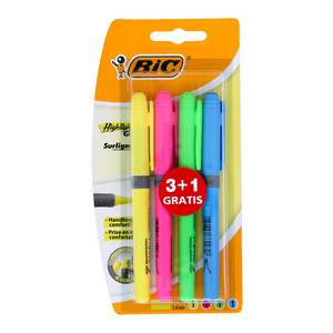 Bic Highlighter Brite Grip Blaster 4pcs