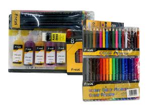 Marker 18s+Color Pencil 18s+Gg 5S+Pencil Hb 12s + 8s Crayon+Sharpener+Eraser 1set