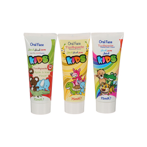 Oral Face Kid Tooth Paste Bubble Gum 3x75ml