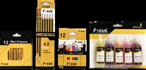Focus Glitter Glue & Color Set 1set