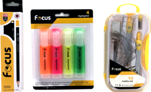 Focus Highlighter With Math Set & Pencil 1set