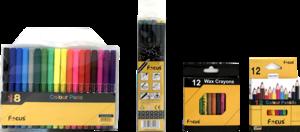 Focus Sketchbook A4 With Pencil & Water Color Pencil 1set