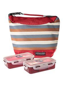 Lock & Lock Lunch Box Red Bag 1pc