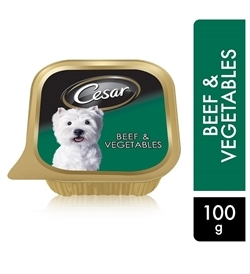 Cesar Beef & Vegetables Wet Dog Food 100g