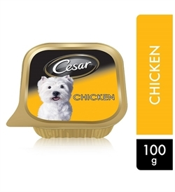 Cesar Chicken Wet Dog Food Can Foil Tray 100g
