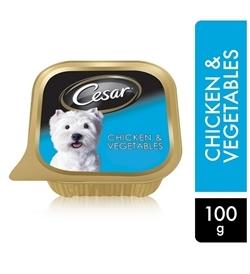 Cesar Chicken & Vegetables Wet Dog Food 100g