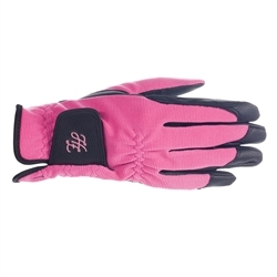 Horze Shona Touch-Screen Riding Gloves Pink 8 1set