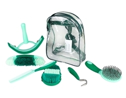 Horze Sweet Grooming Set In Carry Bag Green/Light Green 1pc