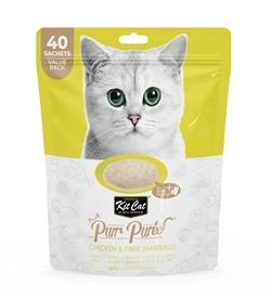 Kit Cat Puree Chicken & Fiber Hairball 40x15g