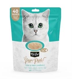 Kit Cat Puree Tuna & Fiber Hairball 40x15g
