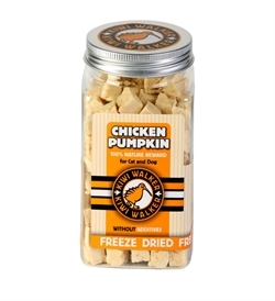 Kiwi Walker Freeze Dried Snack Chicken & Pumpkin Cubes 80g