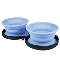 Kiwi Walker Travel Double Bowl Blue 1pc