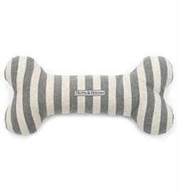 Mutts&Hounds Flint Stripe Brushed Cotton Squeaky Bone Toy Medium 1pc