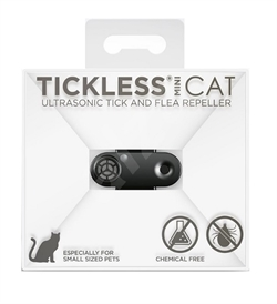 Tickless Mini Cat Ultrasonic Tick & Flea Repeller For Cats Black 1pc