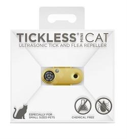 Tickless Mini Cat Ultrasonic Tick & Flea Repeller For Cats Gold 1pc