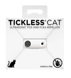 Tickless Mini Cat Ultrasonic Tick & Flea Repeller For Cats White 1pc