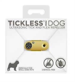 Tickless Mini Dog Ultrasonic Tick & Flea Repeller For Dogs Gold 1pc