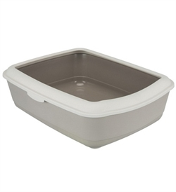 Trixie Classic Litter Tray With Rim Taupe 1pc