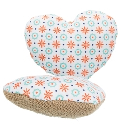 Trixie Heart Jute/Fabric 8cm