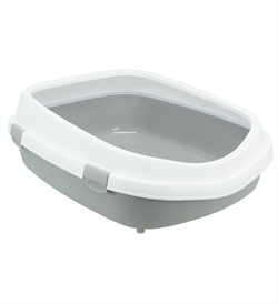 Trixie Primo XXL Cat Litter Tray With Rim Grey/White 1pc