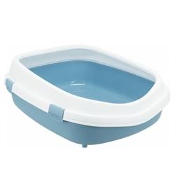 Trixie Primo XXL Cat Litter Tray W/Rim Blue/White 1pc
