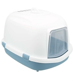Trixie Primo XXL Top Cat Litter Tray With Hood Blue/White 1pc