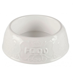 Trixie White Ceramic Food Bowl 300ml