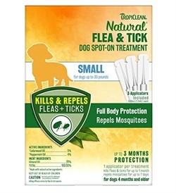 Tropiclean Flea & Tick Small Dog Spot On Treatment 3 treatments