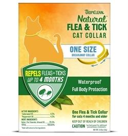 Tropiclean Natural Tick & Flea Cat Collar One Size 1pc