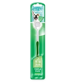 Tropiclean Triple Flex Toothbrush For Dogs Large 1pc