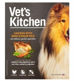 Vet's Kitchen Chicken With Wholegrain Rice Dog Wet Food 395g