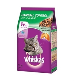 Whiskas Adult Hairball Control With Chicken & Tuna 1.1kg