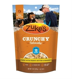 Zukes Crunchy Naturals Baked With Peanut Butter & Bananas 340g