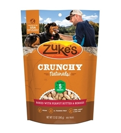 Zukes Crunchy Naturals Baked With Peanut Butter & Berries 340g