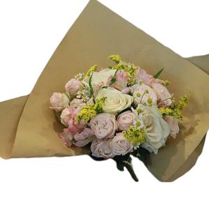 Mix Pastel Flower Bouquet 9 stems