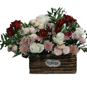 Garden Basket of Flowers 1box