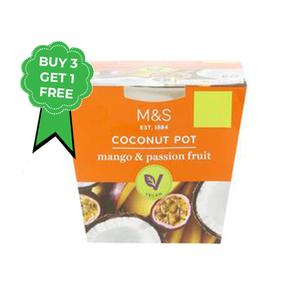 Mango & Passion Fruit Coconut Pot 4x120g