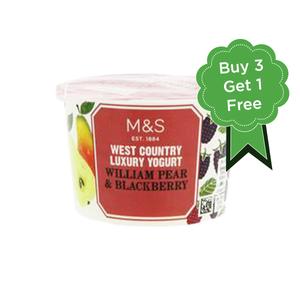 West Country William Pear & Wild Blackberry Yogurt 4x150g