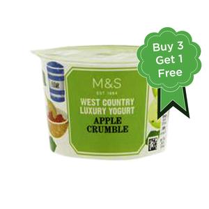 West Country Apple Crumble Yogurt 4x150g