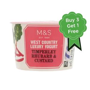 Timperley Rhubarb & Custard Yogurt 4x150g