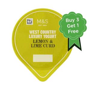 West Country Lemon & Lime Curd Yogurt 4x150g