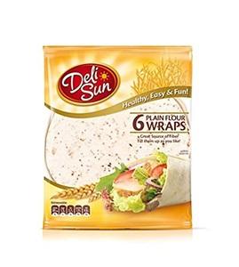 Deli Sun Plain Flour Wrap Tortilla 360g