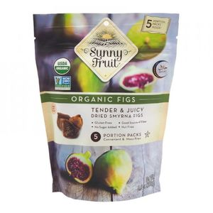 Sunny Fruit Organic Tender & Juicy Dried Smyrna Figs Gluten Free No Added Sugar Nut Free 250g