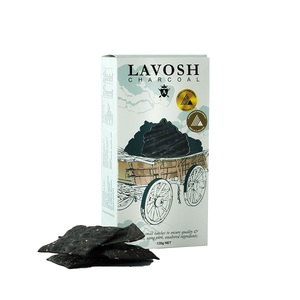 Asterisk Kitchen Lavosh Cracker Activated Coconut Charcoal 130g