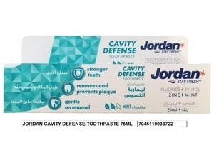 Jordan Cavity Defense Toothpaste 2x75ml