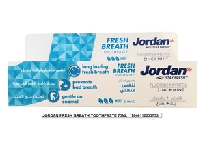 Jordan Fresh Breathe Toothpaste 2x75ml