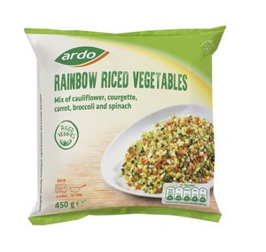 Ardo Rainbow Riced Vegetable 450g