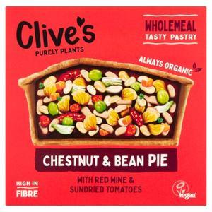 Clive's Pie Chestnut & Bean Gluten Free Organic 250g